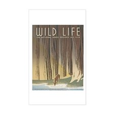 Wild Life Rectangle Stickers