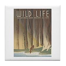 Wild Life Tile Coaster