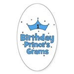 1st Birthday Prince's Grams! Oval Sticker