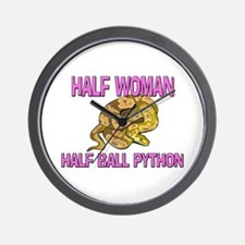 Half Woman Half Ball Python Wall Clock