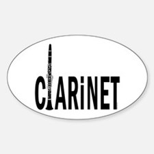 Clarinet Oval Decal