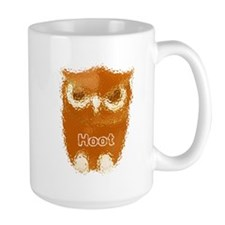 Orange Hoot Owl Mug