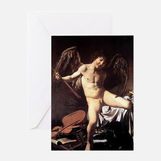 Caravaggio's Amor Vincit Omnia Greeting Card