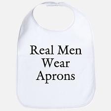 Real Men Wear Aprons Bib
