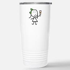 Girl & Coffee Travel Mug
