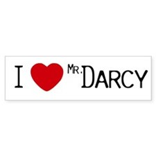 Mr. Darcy is My Copilot Bumper Car Sticker