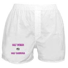 Half Woman Half Babirusa Boxer Shorts