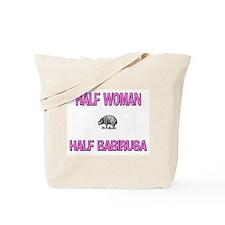 Half Woman Half Babirusa Tote Bag