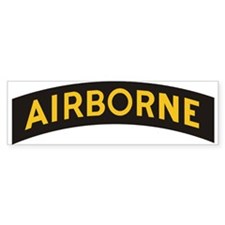 AIRBORNE Tab Bumper Car Sticker
