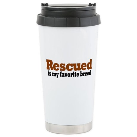 Rescued Breed Stainless Steel Travel Mug
