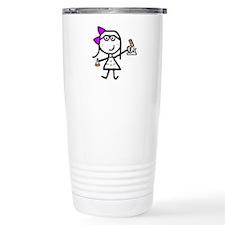Girl & Microscope Travel Mug