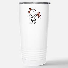 Girl & Monkey Stainless Steel Travel Mug