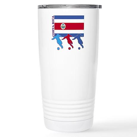 Costa Rica Soccer Stainless Steel Travel Mug