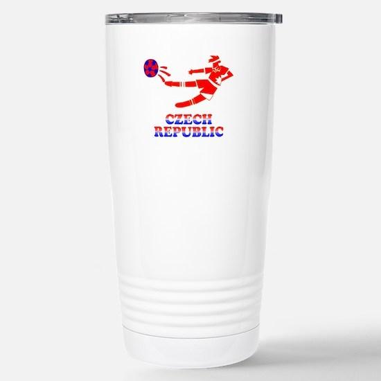 Czech Soccer Player Stainless Steel Travel Mug