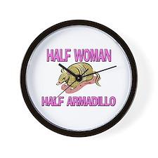 Half Woman Half Armadillo Wall Clock