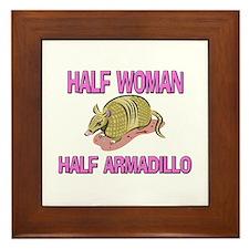 Half Woman Half Armadillo Framed Tile