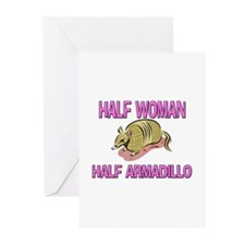 Half Woman Half Armadillo Greeting Cards (Pk of 10