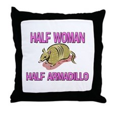 Half Woman Half Armadillo Throw Pillow