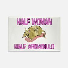 Half Woman Half Armadillo Rectangle Magnet
