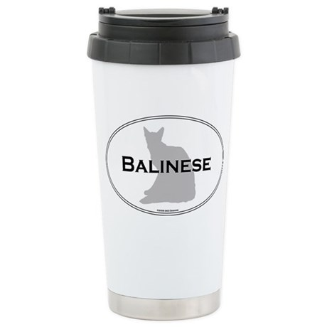 Balinese Oval Stainless Steel Travel Mug