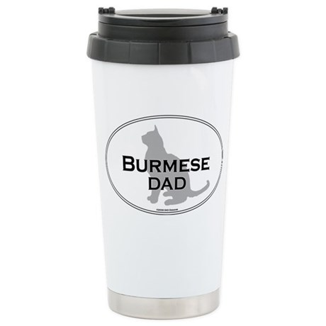 Burmese Dad Stainless Steel Travel Mug