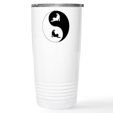 Yin Yang Cat Stainless Steel Travel Mug