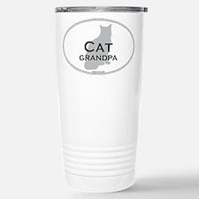 House Cat Grandpa Stainless Steel Travel Mug
