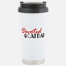 Devoted Cat Dad Stainless Steel Travel Mug
