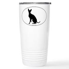 Cornish Rex Silhouette Travel Mug