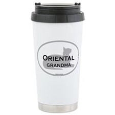 Oriental Grandma Travel Coffee Mug