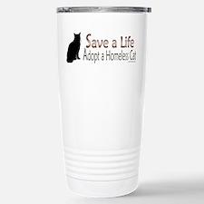 Adopt Homeless Cat Stainless Steel Travel Mug