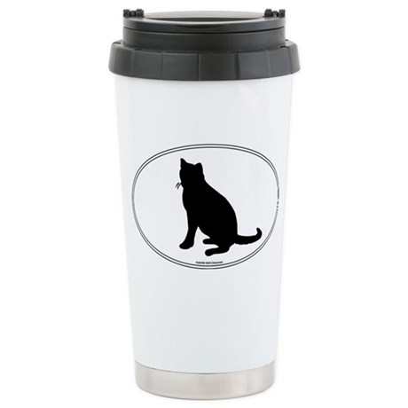 Russian Blue Silhouette Stainless Steel Travel Mug