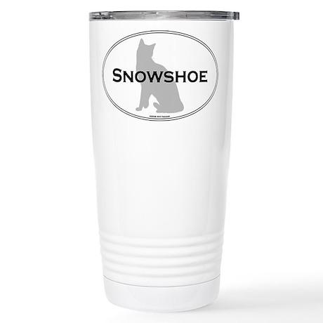 Snowshoe Oval Stainless Steel Travel Mug