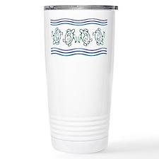 Turtles in Waves Travel Coffee Mug