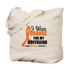 I Wear Orange Boyfriend Tote Bag