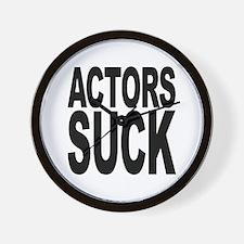 Actors Suck Wall Clock