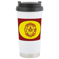 Fire Fighters Masonic Stainless Steel Travel Mug