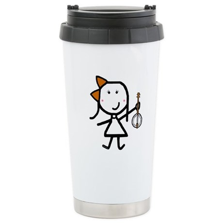 Girl & Banjo Stainless Steel Travel Mug