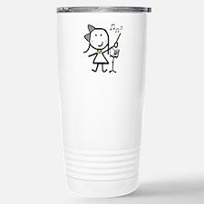 Girl & Conductor Stainless Steel Travel Mug