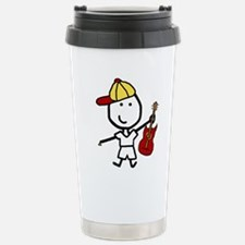 Boy & Electric Guitar Travel Mug