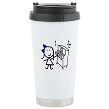 Girl & Piano Travel Mug