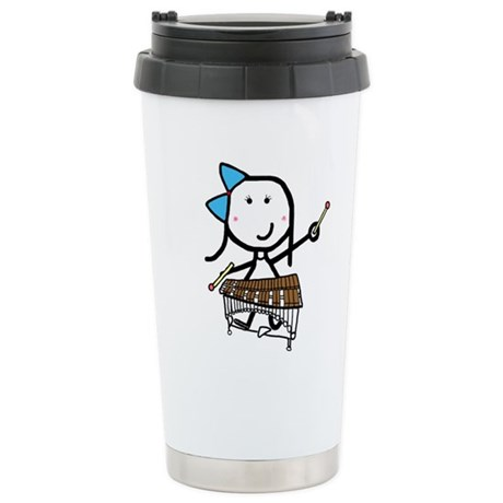 Girl & Pit Percussion Stainless Steel Travel Mug