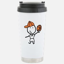 Boy & Basketball Travel Mug