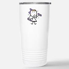 Girl & Exercise Stainless Steel Travel Mug