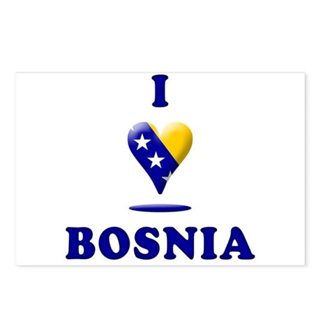 I Love Bosnia Postcards (Package of 8)