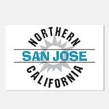 San Jose California Postcards (Package of 8)