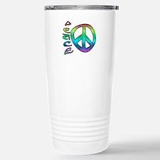 Rainbow Peace Stainless Steel Travel Mug