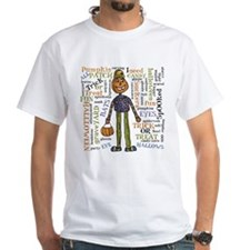 White Halloween Word Fetti T-Shirt