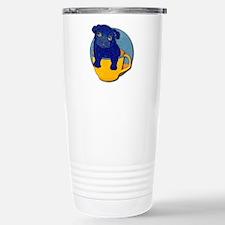 Teacup Pug Stainless Steel Travel Mug