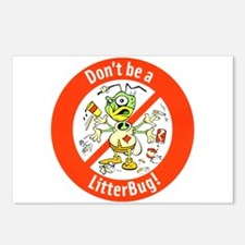 Postcards (Package of 8) Don't Be A LitterBug!